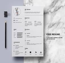 Free Simple Clean Resume Templates | Freebies | Graphic Design Junction