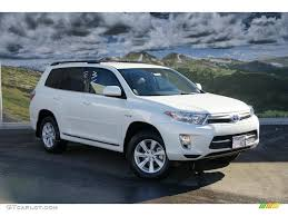 Toyota Highlander White - amazing photo gallery, some information ...