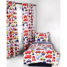 bacati transportation 4 piece toddler bedding set 100 cotton percale blue multi