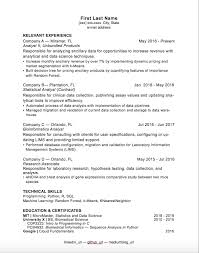 Statistical Programmer Sample Resume Beauteous Bioinformatics Analyst Sample Resume Impressive 48 Awesome Where To