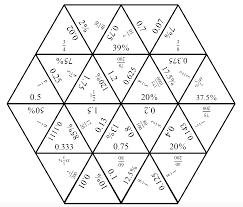 fractions decimals and perccent tarsia cards pdf fractions decimals and percent tarsia solution