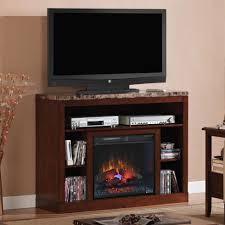 adams 23 empire cherry media console electric fireplace cabinet throughout electric fireplace with tv stand