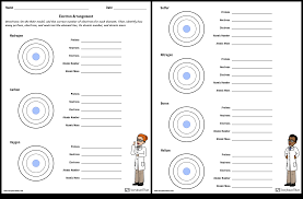 Electron Arrangement Worksheet Storyboard By Nl Examples