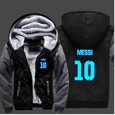 Barcelona Messi Hoodie Messi 10 Luminous Cardigan Men