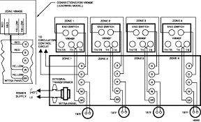 v4044f1000 b Honeywell Zone System Installation wiring typical 4 zone system