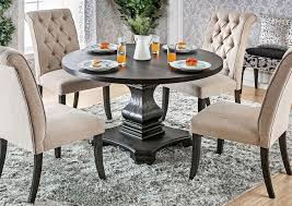 Paradise Home Furniture Nerissa Antique Black Round Dining Table