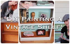 diy vintage furniture. EASY Retro Furniture DIY: How To Refinish And Repaint A Vintage Shelf! By CHERRY DOLLFACE - YouTube Diy E