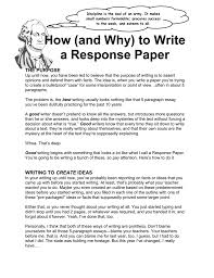 how to write a response paper