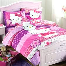 purple bed sets full hello kitty toddler set pink comforter home sheet bedding and comfo