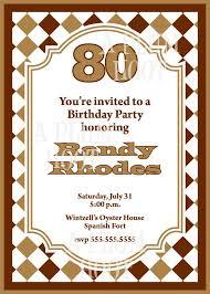 Free Printable 80th Birthday Invitations Best Invitation Templates