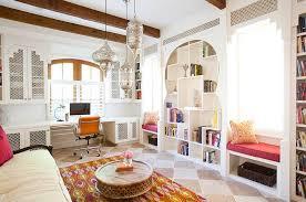 Curved Doorways Moroccan Inspired Lights Shape Living Room