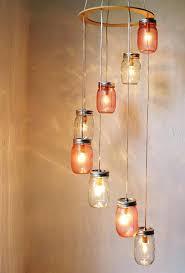 mason jar chandelier diy ideas rustic cool for inspiration