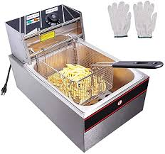 6L 2500W <b>Electric Deep Fryer</b> Single Basket Restaurant Kitchen ...