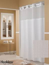 pique waffle white hookless shower curtain vinyl no 774 hbh52h201x