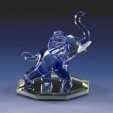 you re viewing blue ellie elephant miniature hand blown glass animal figurine 11 99 8 99