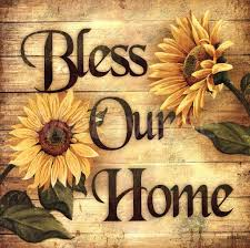 Sunflower Home Decor Bless Our Home Sunflower Blessings Wall Floral Country Art Kitchen