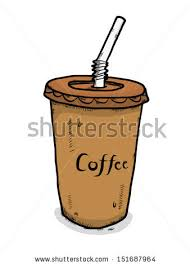 iced coffee clipart black and white. Interesting White Inside Iced Coffee Clipart Black And White O