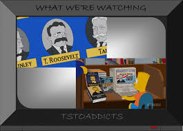 where did that come from theodore roosevelt springfield bart simpson studies theodore roosevelt
