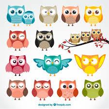 <b>Cute cartoon owls</b> Vector | Free Download