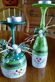 cute snowman wine glass project