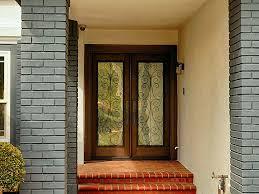 glass double front door. Doors, Double Entry Doors Fiberglass With Glass Dark Wood Door Front