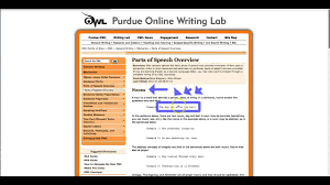 Owl Purdue Online Writing Lab For Grammar