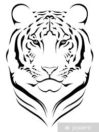 Nálepka Vector Tygr Tetování Pixerstick