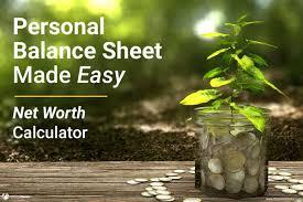 Business Net Worth Calculator Net Worth Calculator Calculate Your Personal Balance Sheet