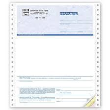 Job Proposal Form Custom Printed Proposal Forms Carbonless Job Proposal
