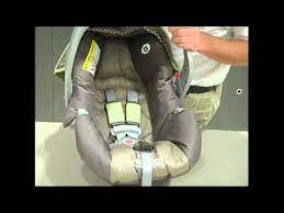 harness on a graco infant car seat