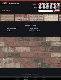 Boral Brick Chart Brick Colors Acme Brick Company Debuts New Mobile App