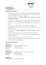 Importance Of A Resume Sample Resume For C Net Developer
