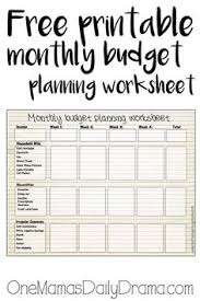 Create A Monthly Budget That Works Using A Free Excel Spreadsheet ...