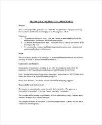 policy templates sample travel policy template 9 free documents download in word pdf