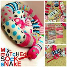 mismatched sock snake cute