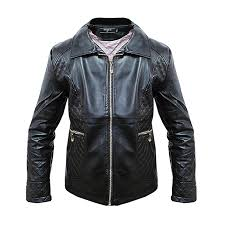 casual zipper detailed and designer leather women s jacket black