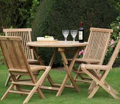 bristol outdoor round folding table 4 chairs set