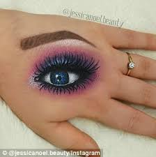 make up artists paint stunning 3d eyes and intricate faces on the backs of their hands to hone their talents with breathtaking results daily mail