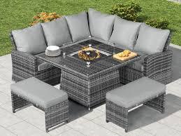 rattan corner dining set corner sofa set