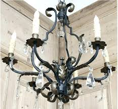 wrought iron crystal chandelier white lamp chandeliers best black