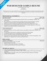 Web Design Resume Sample - Resume Sample