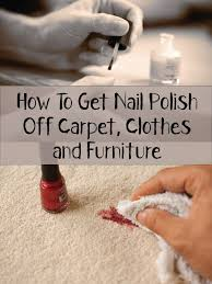 how to get nail polish off carpet