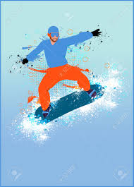winter sport snowboard jump poster or flyer background stock photo winter sport snowboard jump poster or flyer background space