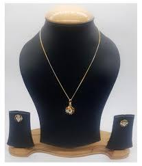 penny jewels alloy fashion designer stylish simple pendant set for women set for
