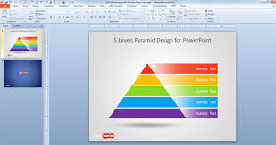 Ppt Pyramid Free 5 Level Pyramid Template For Powerpoint Free