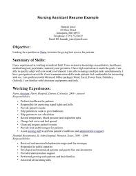 Cna Resume Templates 4 Nurse Assistant Example