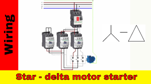 how to wire star delta motor starter power and control circuit