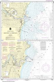 Noaa Navigation Charts Noaa Nautical Chart 14922 Manitowoc And Sheboygan