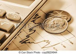 Us Currency With Calculator On Grap