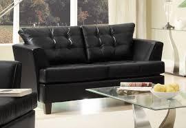 Homelegance Della All Bonded Leather Sofa Set Black UBLK At - All leather sofa sets